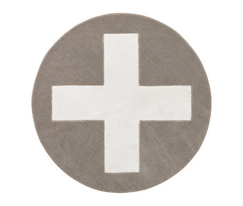 LIFETIME Runder Teppich Grey X
