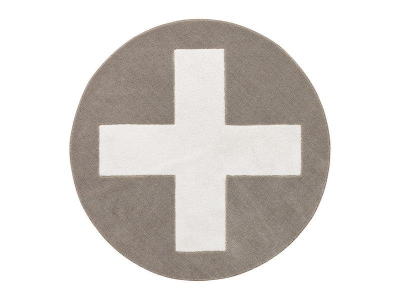 LIFETIME Runder Teppich Grey X ø133 cm