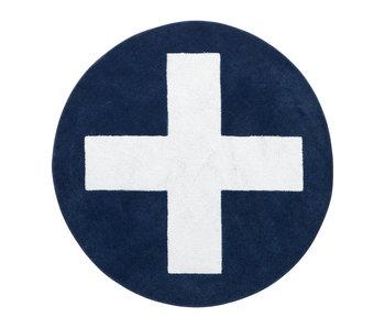 LIFETIME Round carpet Blue X