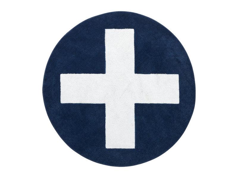 LIFETIME Round carpet Blue X ø133 cm