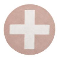 Round carpet Pink X