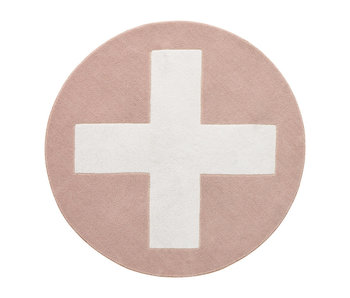 LIFETIME Runder Teppich Pink X