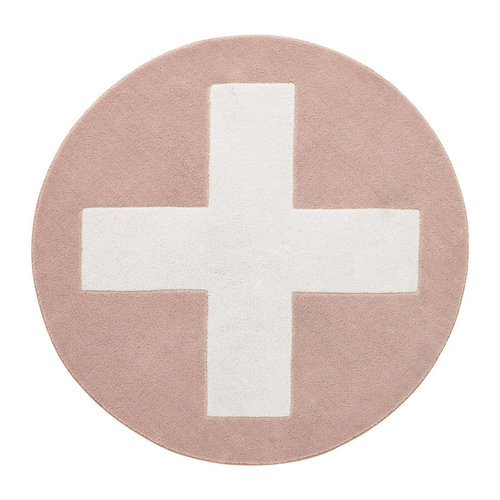 LIFETIME Round carpet Pink X ø133 cm