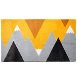 LIFETIME Carpet Mountain Trip Yellow 100 x 180 cm
