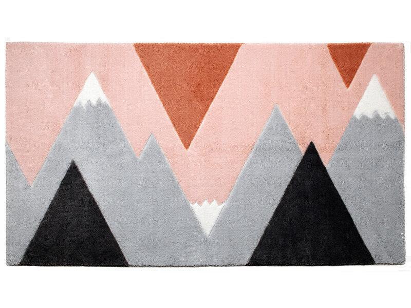 LIFETIME Carpet Mountain Trip Pink 100 x 180 cm