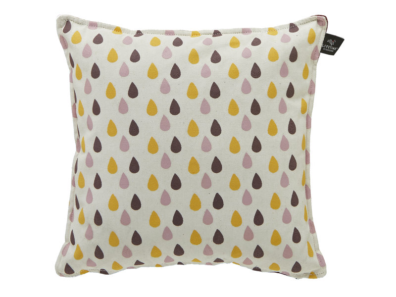 LIFETIME Quadratisches Kissen Drops 45 x 45 cm