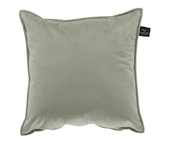 LIFETIME Square pillow Velours Soft Green