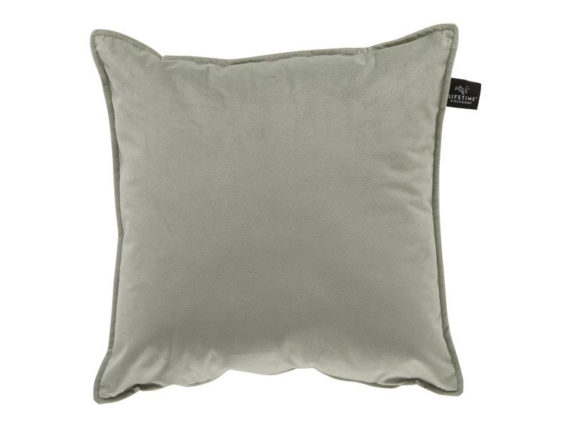 LIFETIME Square pillow Velours Soft Green 45 x 45 cm