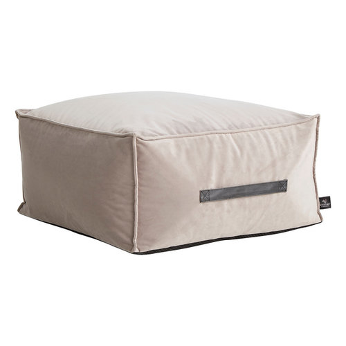 LIFETIME Seat cushion Velours Grey 30 x 60 x 60 cm