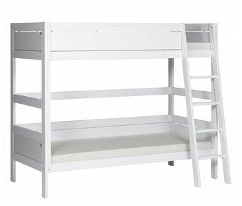 LIFETIME Etagenbett 90 x 200 schräge Leiter weiß