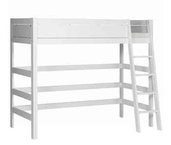 LIFETIME Loft bed slanted ladder white