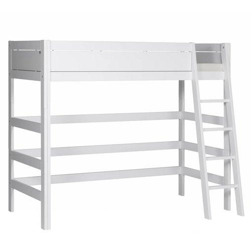 LIFETIME Loft bed slanted ladder white