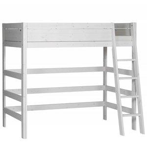 LIFETIME Loft bed slanted ladder whitewash