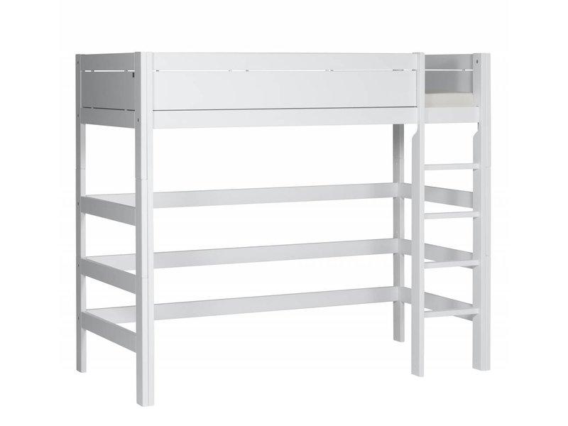 LIFETIME Loft bed 90 x 200 straight ladder in white