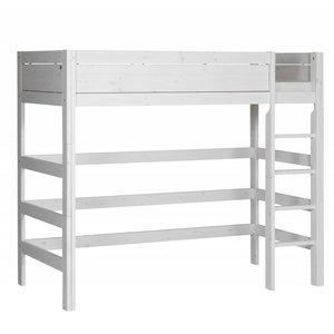 LIFETIME Loft bed straight ladder whitewash