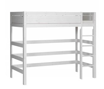 LIFETIME Loft bed straight ladder whitewash
