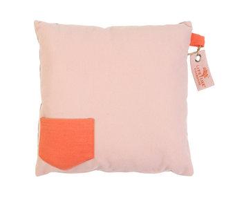 LIFETIME Quadratisches Kissen Blusch Vilt