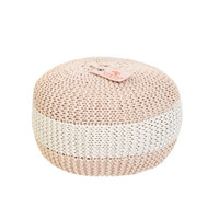 Round knitted seat cushion