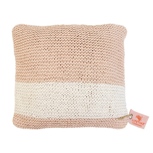 LIFETIME Square knitted pillow 45 x 45 cm