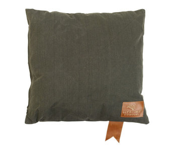 LIFETIME Square pillow Olive