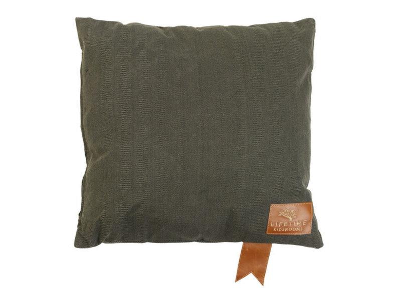 LIFETIME Quadratisches Kissen Olive 45 x 45 cm