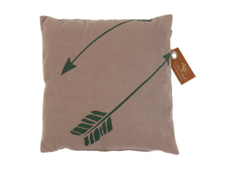 LIFETIME Quadratisches Kissen Arrow 45 x 45 cm