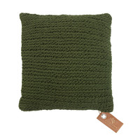 Square knitted pillow
