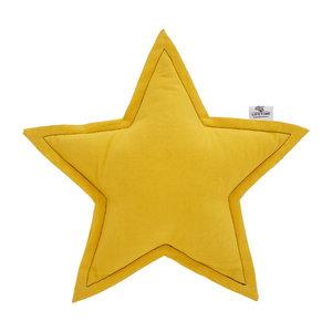 LIFETIME Star pillow ochre yellow