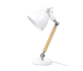LIFETIME Tischlampe Holz weiß