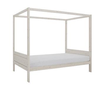 LIFETIME four-poster bed 120 x 200 cm whitewash