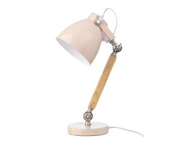LIFETIME Tischlampe Holz pink