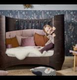 Leander Babybett mit Junior-kit in walnuss