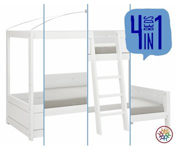 LIFETIME 4 in 1 Bed canopy white