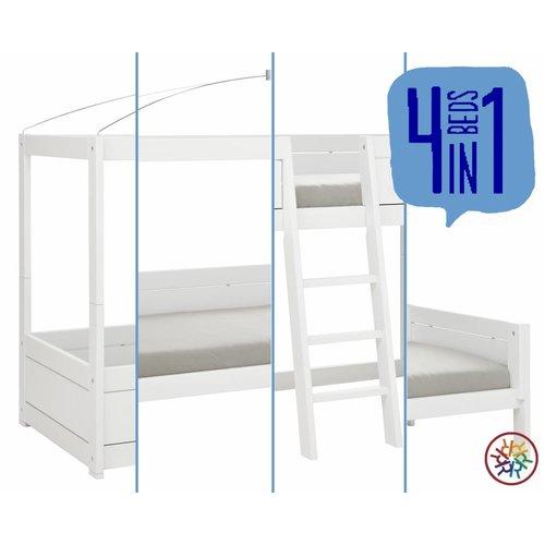 LIFETIME 4 in 1 Bett Himmel in weiß