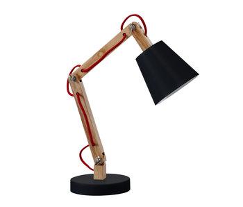 LIFETIME Tischlampe Holz/ Metall schwarz