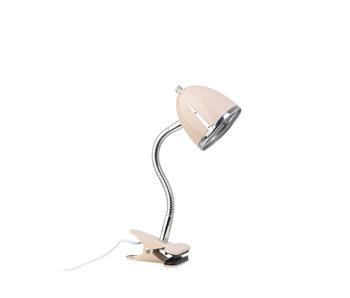 LIFETIME Clamp lamp pink chrome edge