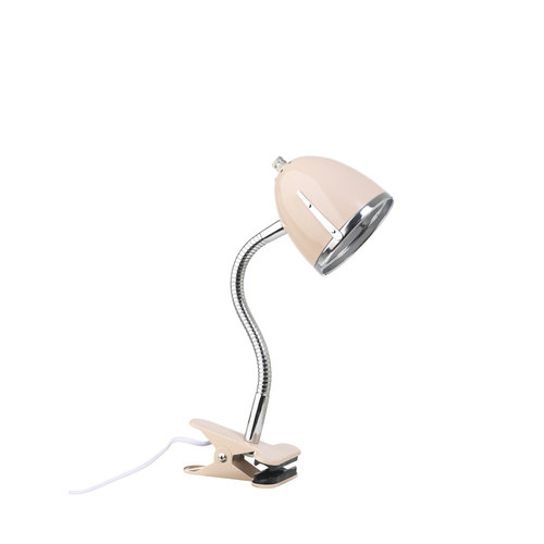 LIFETIME Clamp lamp pink with chrome edge
