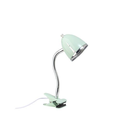 LIFETIME Clamp lamp mint with chrome edge