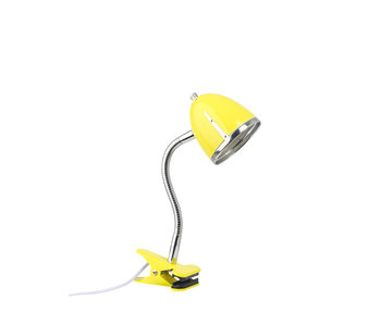 LIFETIME Clamp lamp yellow chrome edge