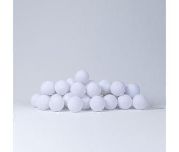 LIFETIME Fairy lights cotton balls white