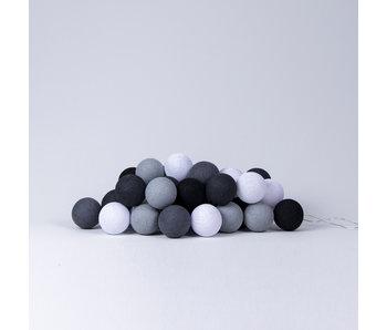 LIFETIME Fairy lights cotton balls grey colours