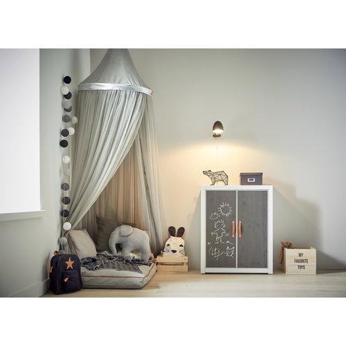 LIFETIME Fairy lights with cotton balls grey colours