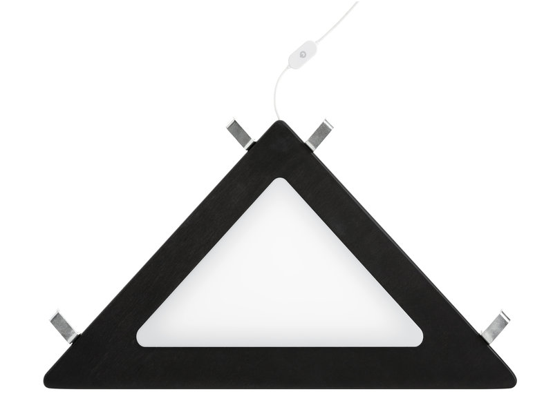 LIFETIME Corner shelf with LED light black