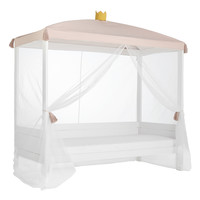 Bed canopy princess with crown