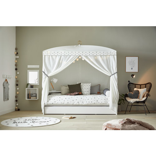 LIFETIME Bed canopy with crown