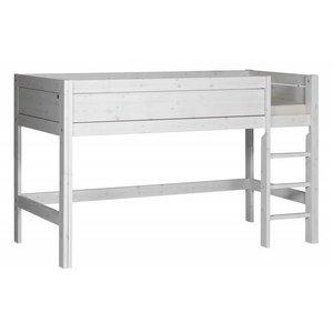 LIFETIME Half height bed straight ladder whitewash