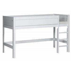 LIFETIME Half height bed straight ladder white