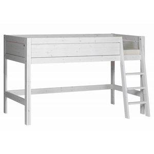 LIFETIME Half height bed slanted ladder whitewash