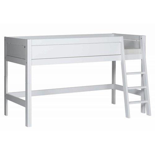 LIFETIME Half height bed slanted ladder white