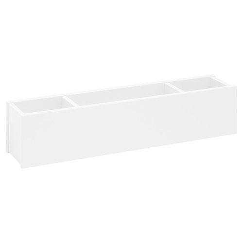 LIFETIME Half height bed 90 x 200 with four closed sides in white